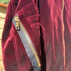 3ad6d57d8 Women's Sandro Ventura Velvet bomber jacket